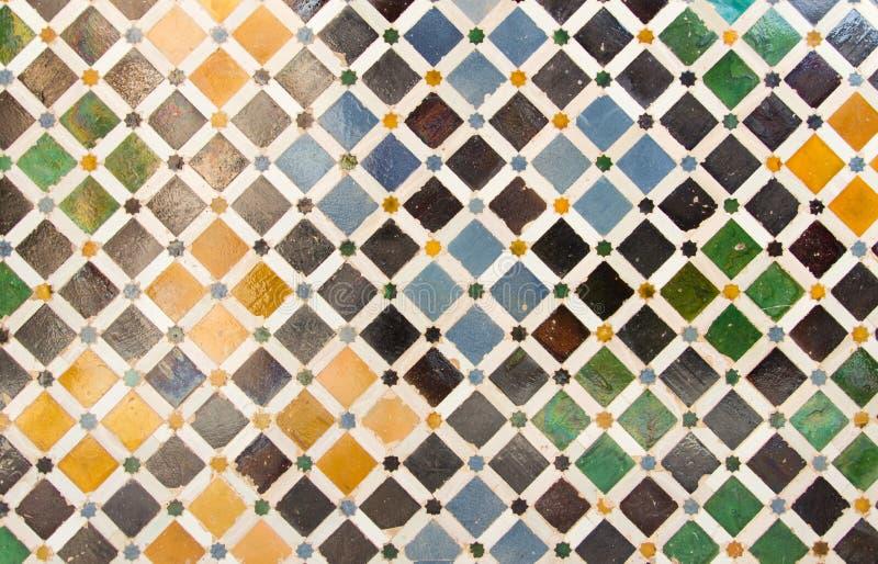 Красочная предпосылка мозаики плитки стоковая фотография rf