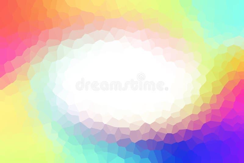Красочная предпосылка решетки полигона радуги иллюстрация вектора
