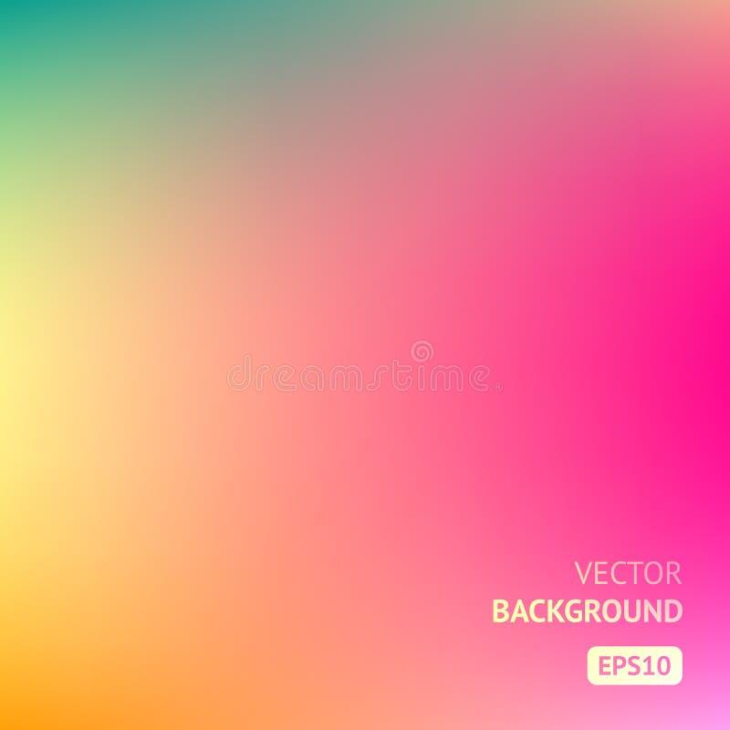 Красочная предпосылка сетки градиента в ярких цветах радуги Абстрактное неясное изображение бесплатная иллюстрация