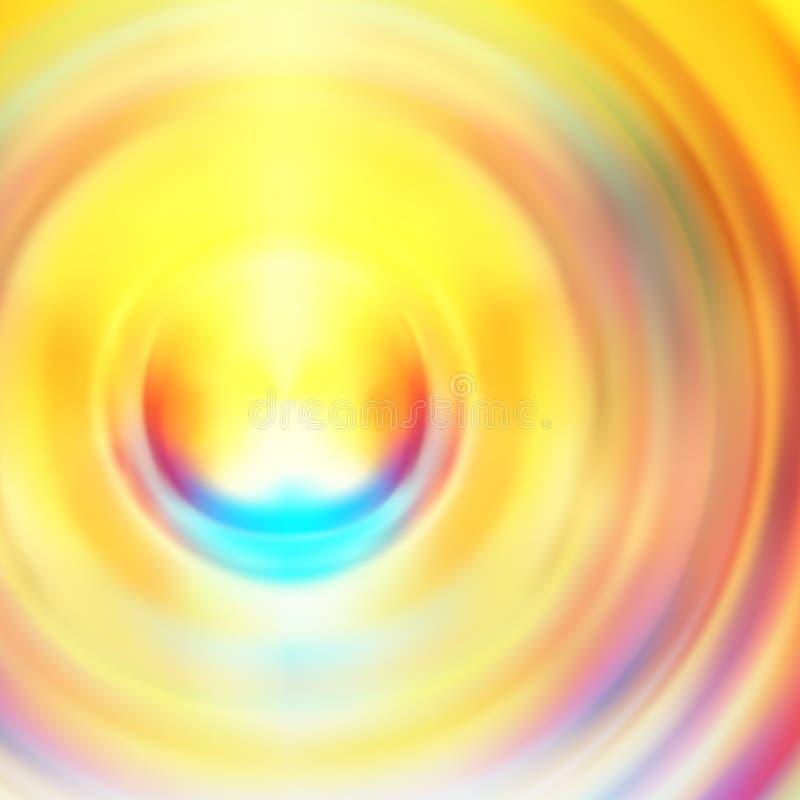 Красочная радиальная жидкостная предпосылка градиента стиля иллюстрация вектора