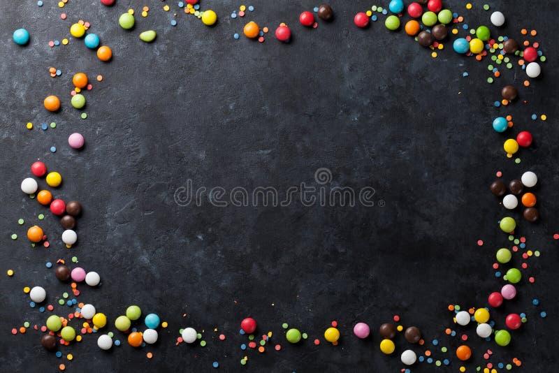 Красочная рамка конфет стоковое фото