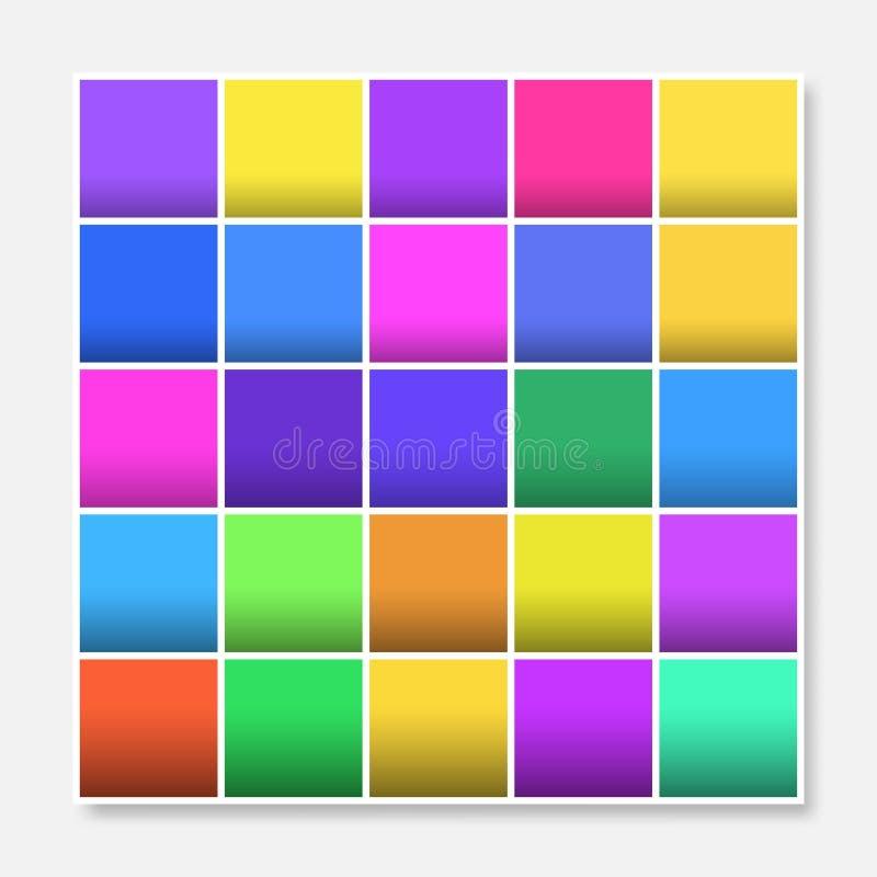 Красочная рамка предпосылки квадратов, преграждает мягкую пастельную радугу иллюстрация вектора