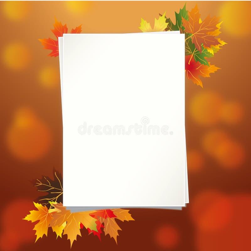 Красочная рамка упаденных листьев осени стоковое фото rf