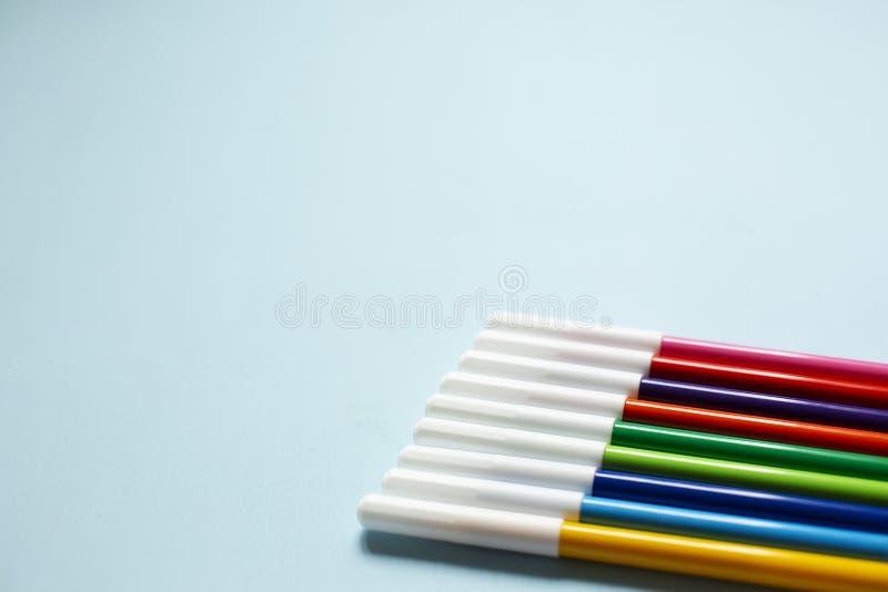 Красочная ручка отметки стоковое изображение rf