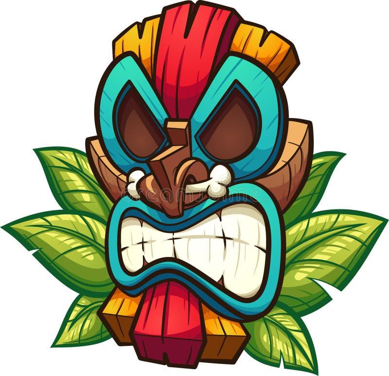 Красочная сердитая маска tiki бесплатная иллюстрация