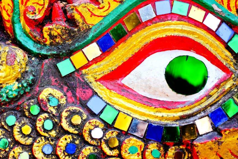 Красочная текстура глаза дракона стоковые изображения rf