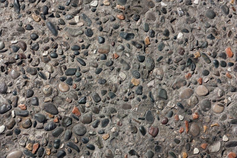 красочная текстура смешанного конца камешка вверх стоковое фото