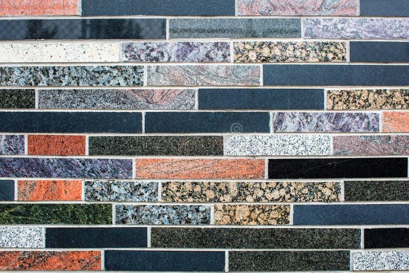Красочная текстура стены плитки гранита Плитки мозаики цвета смешивания стоковая фотография rf