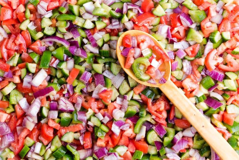 Красочная турецкая текстура предпосылки салата чабана стоковая фотография rf