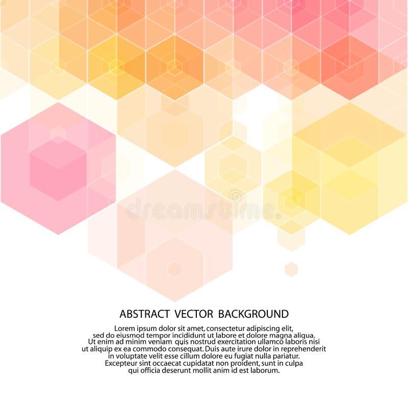 Красочная ультрамодная предпосылка полигональные шестиугольники стиля 10 eps иллюстрация штока