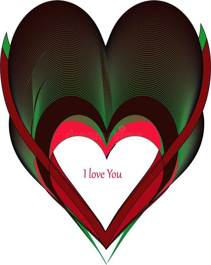 Красочная форма влюбленности стоковое изображение rf