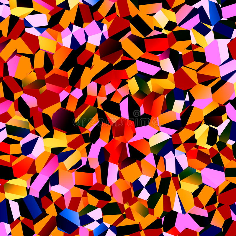 Красочная хаотическая мозаика полигонов Абстрактный геометрический дизайн предпосылки График Grunge геометрии Полигональная карти иллюстрация вектора