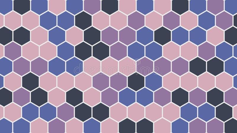 Красочная шестиугольная геометрическая предпосылка также вектор иллюстрации притяжки corel иллюстрация вектора