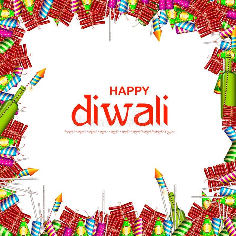 Красочная шутиха огня на счастливой предпосылке Diwali для светлого фестиваля Индии бесплатная иллюстрация