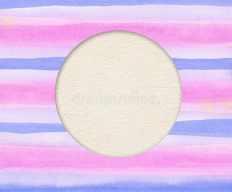 Красочная щетка штрихует линии с светлое зернистым иллюстрация штока