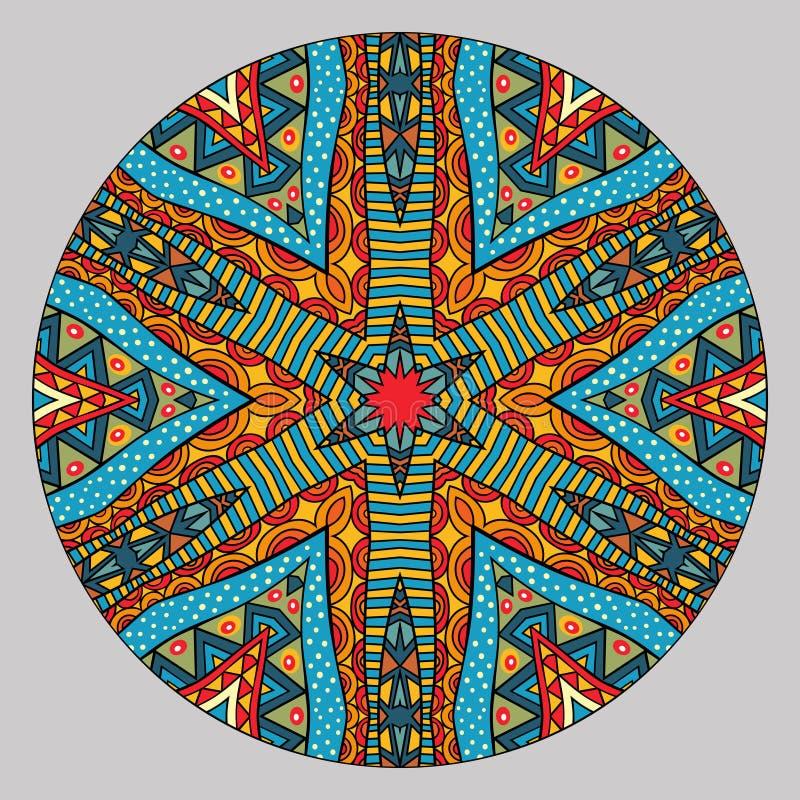 Красочная этническая круглая картина бесплатная иллюстрация