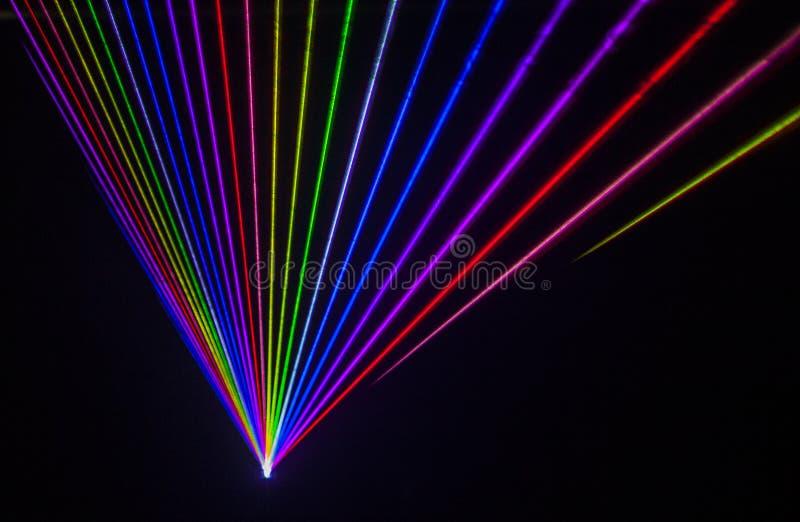 Красочное влияние лазера стоковая фотография rf