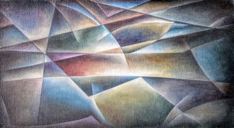 Красочное геометрических форм темное бесплатная иллюстрация