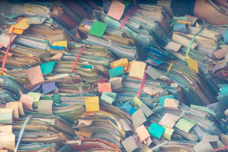 Красочное досье сделанное бумажной Stackable серии, безалаберный стоковые изображения rf