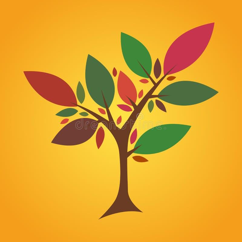 Красочное дерево лета иллюстрация вектора