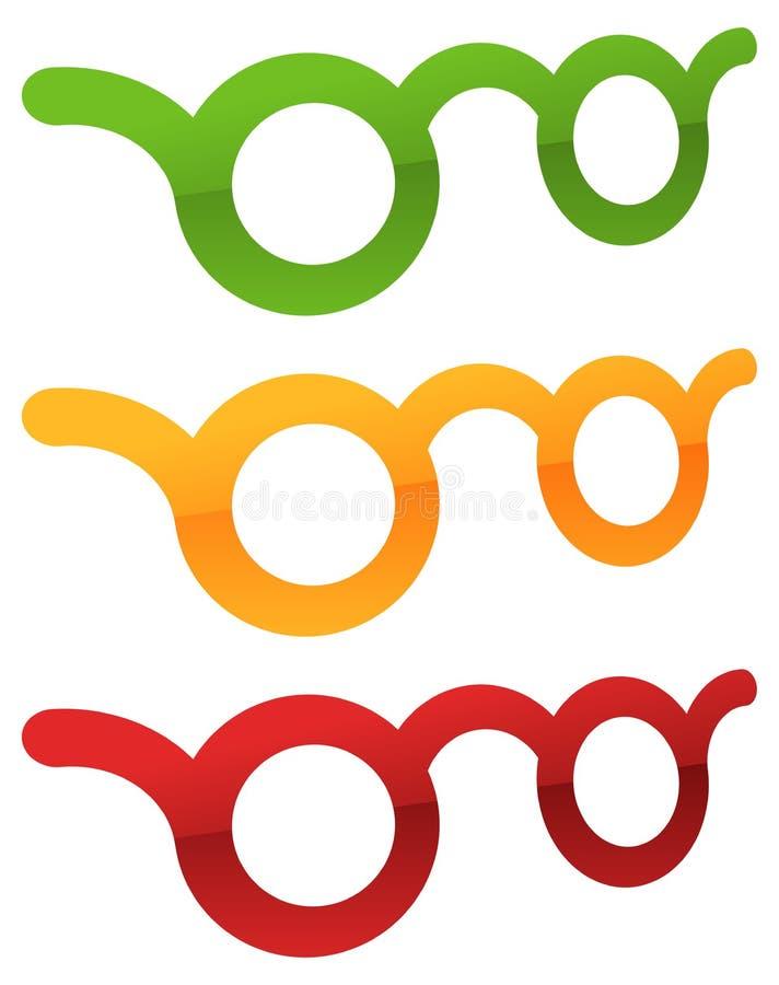Download Красочное зрение стекел, Optician, значок концепции Optometry Иллюстрация вектора - иллюстрации насчитывающей окулярно, конструкция: 81804414