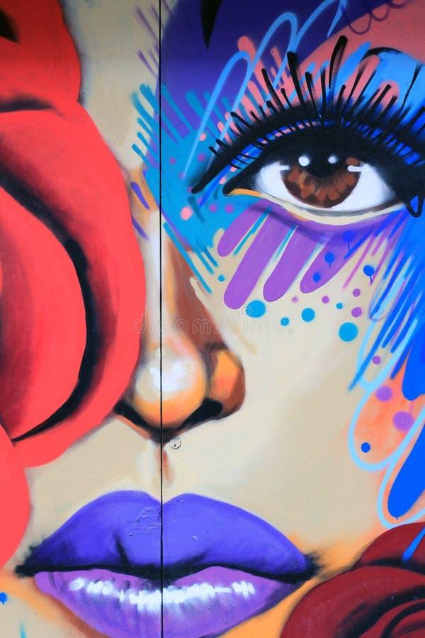 Красочное искусство улицы в NYC стоковые изображения