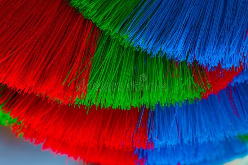 Красочное и картины пластичных веников стоковые изображения