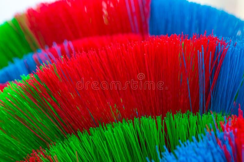 Красочное и картины пластичных веников стоковое фото rf