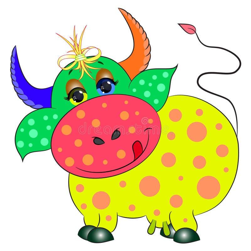 Красочное коровы милое иллюстрация штока