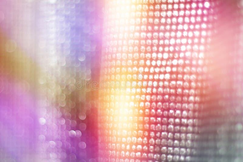 Красочное отражение светов на занавесах sequins стоковое изображение