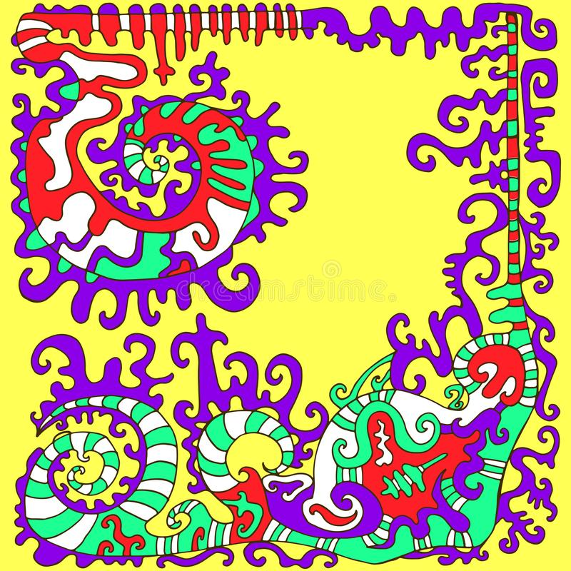 Красочное психоделическое этническое происхождение в ацтекском стиле isola бесплатная иллюстрация