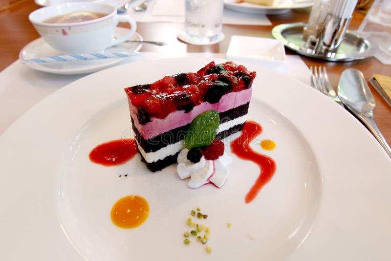 Красочное сплавливание торта иллюстрация штока