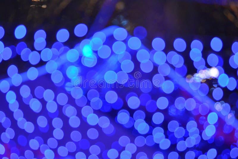 Красочное текстуры предпосылки ночи света Bokeh defocused стоковая фотография rf