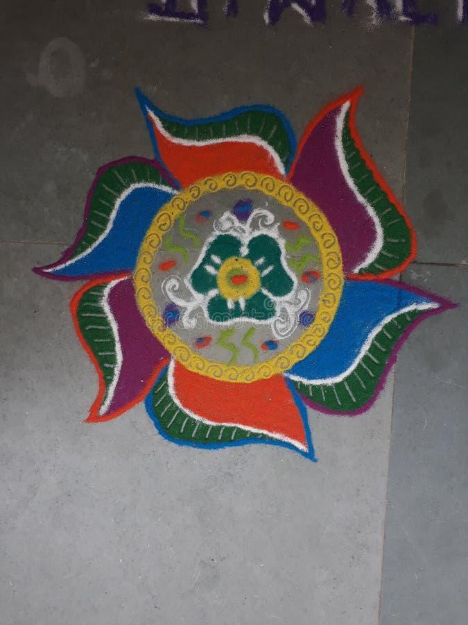 Красочное Rangoli стоковое фото