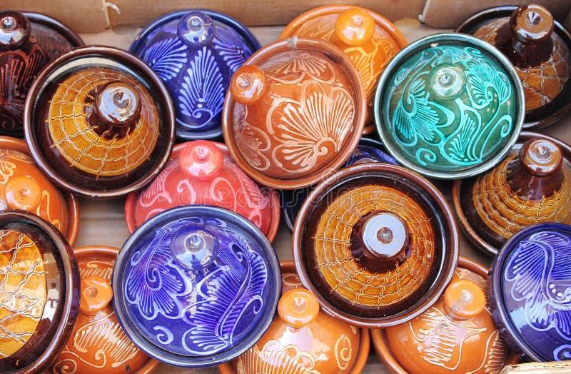 Красочное Tajines стоковая фотография rf