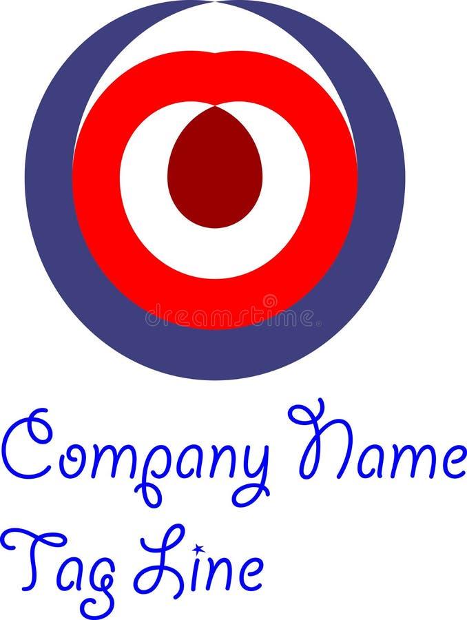 красочные абстрактные дизайн и вектор логотипа иллюстрация штока