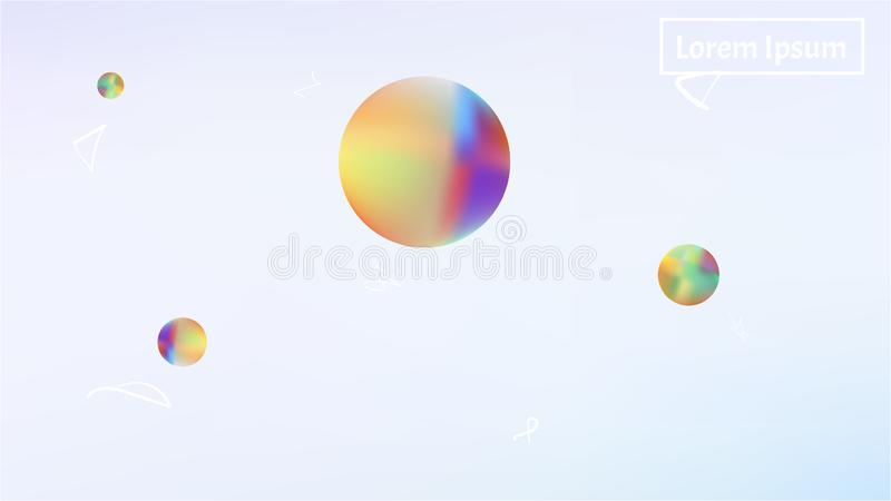 Красочные абстрактные обои изображения предпосылки космоса иллюстрация штока