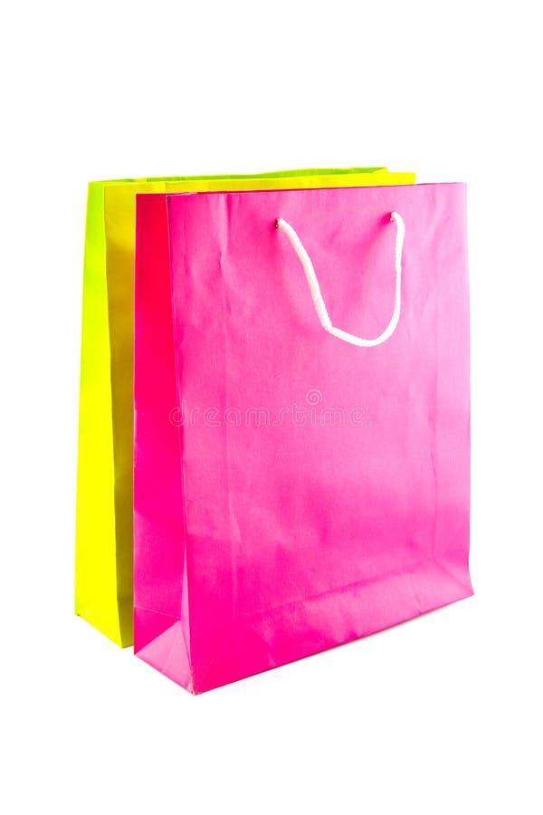 Красочные бумажные хозяйственные сумки стоковое изображение