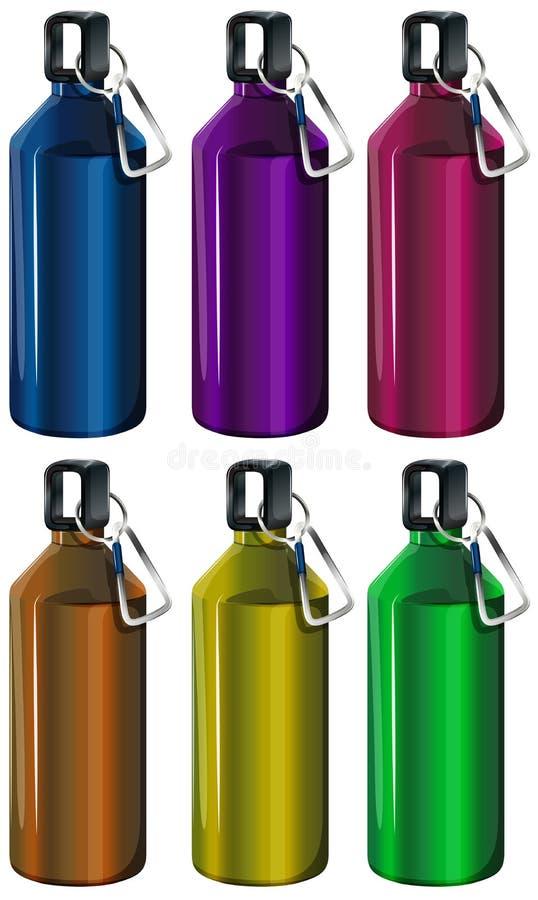 Красочные бутылки бесплатная иллюстрация