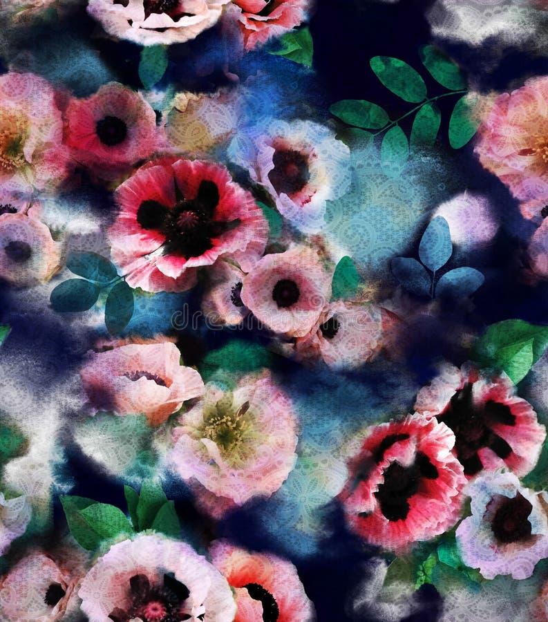 Красочные ветреницы цветков бесплатная иллюстрация