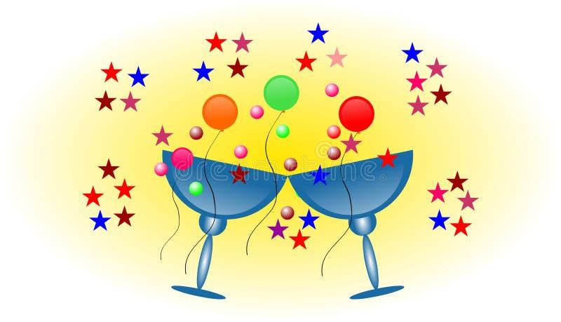 Красочные воздушные шары с белой предпосылкой бесплатная иллюстрация