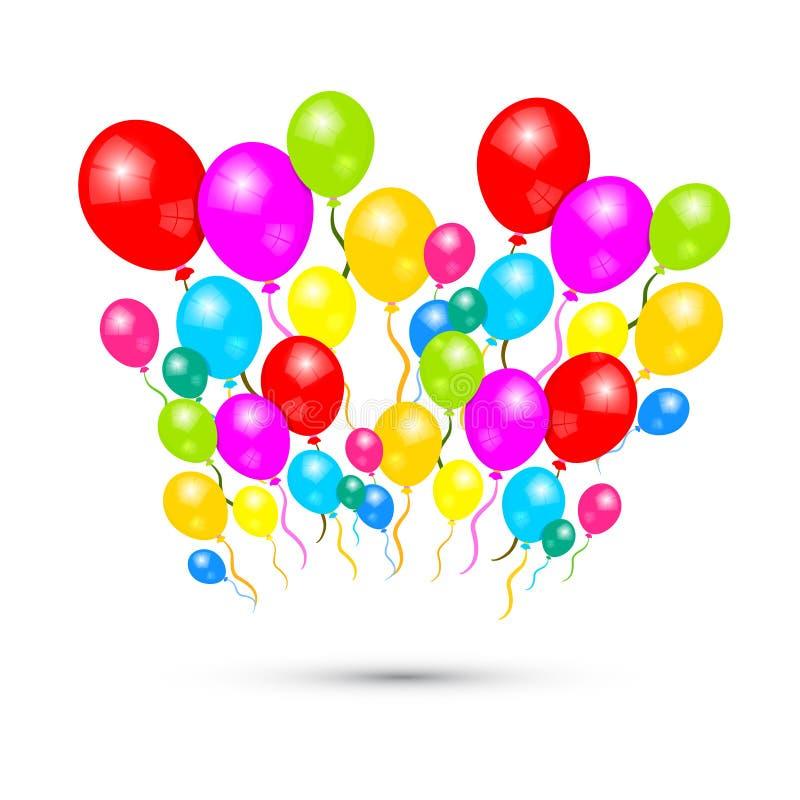 Красочные воздушные шары вектора бесплатная иллюстрация