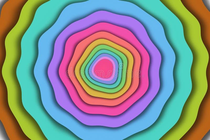 Красочные волнистые формы иллюстрация штока