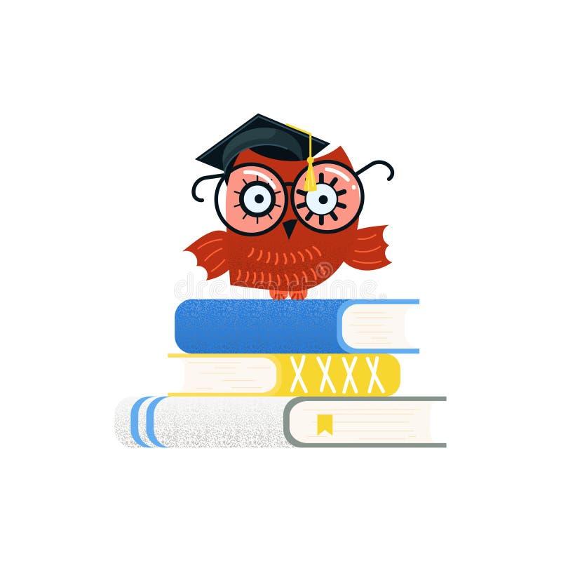Красочные воспитательные логотип и задняя часть в школу иллюстрация штока