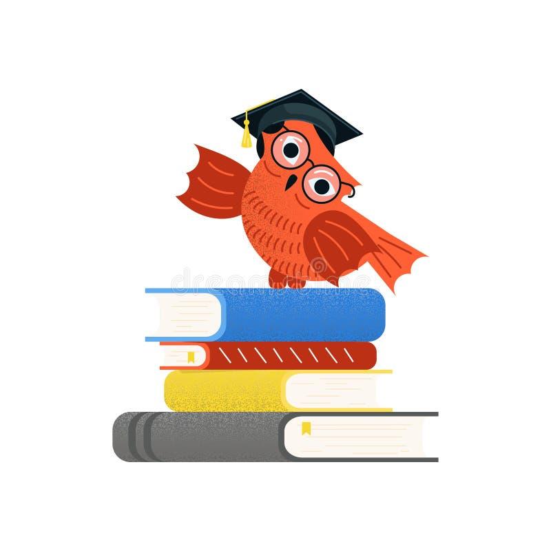 Красочные воспитательные логотип и задняя часть к концепции школы иллюстрация штока
