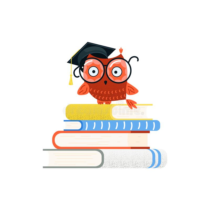 Красочные воспитательные логотип и задняя часть к концепции школы иллюстрация вектора