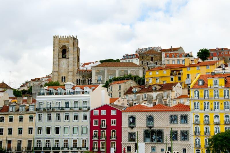 Красочные здания города стоковые изображения rf