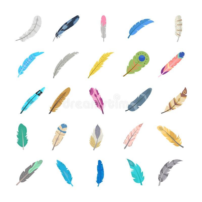 Красочные значки пера бесплатная иллюстрация