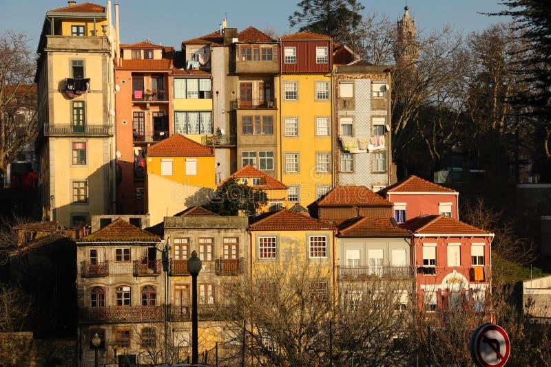 Красочные здания в старом городке. Porto.Portugal стоковое фото rf