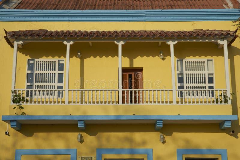 Красочные здания Cartagena de Indias в Колумбии стоковые изображения rf